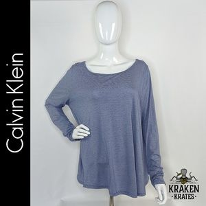 Calvin Klein Performance Blue & White Top XL